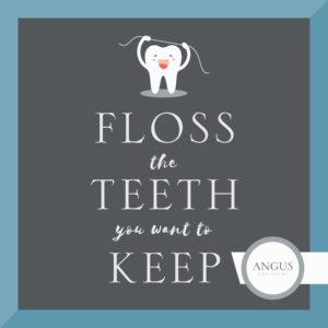 Tooth Illustration - Floss the Teeth You want to Keep