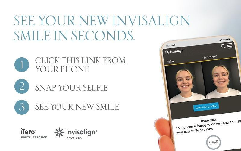 Infographic - See Your Invisalign Smile - Click and snap your selfie
